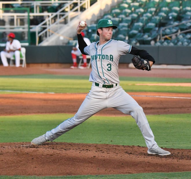 Carson Rudd sat down all nine batters he faced in Game 2 on Friday.