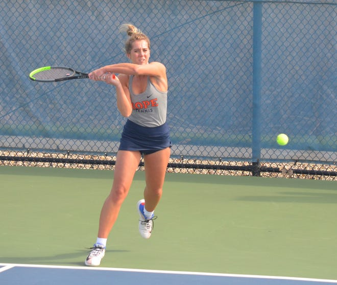 Hope women's tennis