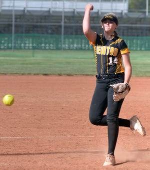 Newton pitcher Tegan Livesay struck out 22 batters in 15 innings of work, picking up two wins as the Railers swept Hutchinson Friday in AV-CTL I play at Fischer Field.