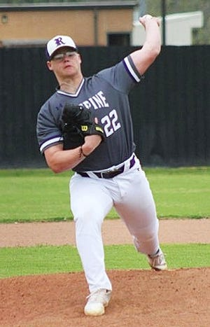 Rosepine lefty Casey Tilley fired a two-hitter on Friday night to lead the Eagles to a win over Fisher in Game 1 of a best-of-3 Class 2A quarterfinal series, 9-0.