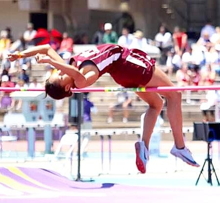 Merryville's Mekyah Hooper took home first place in the girls' high jump at the Class 1A state track and field championships on Thursday in Baton Rouge.