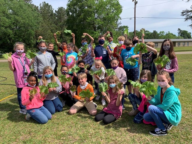 The DeRidder Ingevity plant made a donation to the Rosepine Elementary School Outdoor STEM Lab.