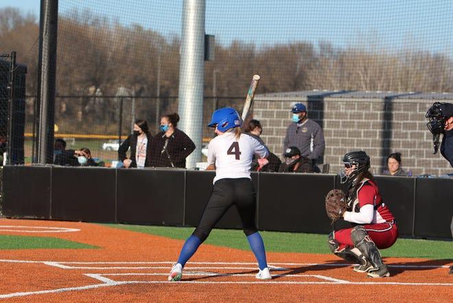 Shown is Leavenworth junior pitcher/shortstop Kaylee McLain.