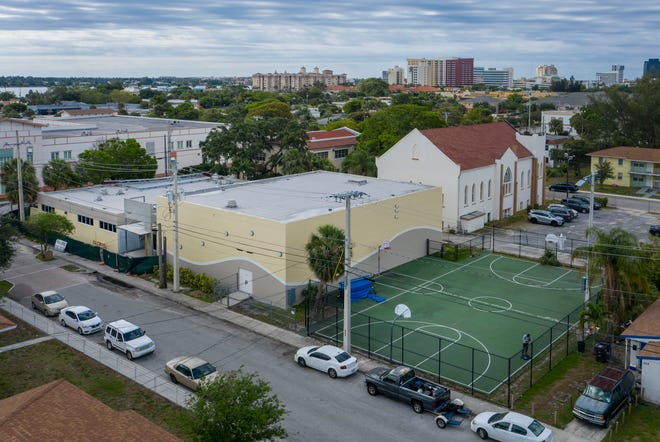 The $1.4 million renovation of the Pleasant City Community Center will include new lighting, drywall repair, painting and expansion of the area in West Palm Beach, Florida on May 8, 2021.