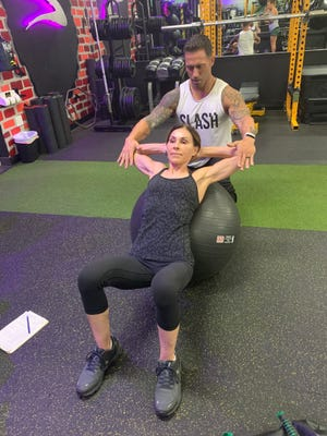 """Sherry Millar, 66, has been training with Delray Beach personal trainer Joe Ardagna for 15 years. She credits him """"with helping me gain strength in ways I never thought I could."""""""