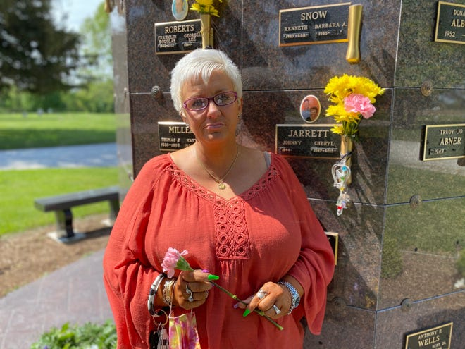 Missi Fuoss has attended each of the Mother's Day remembrance tributes at Roselawn Memorial Park since her mother, Cheryl Jarrett, died in February 2015.