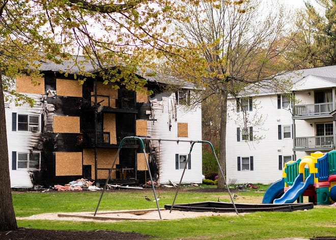 A fire at a condominium complex off Litchfield Street in Leominster late Friday afternoon has left two dozen families without a place to live.