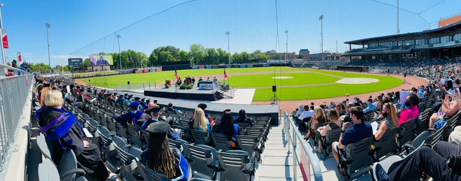 Family, friends and loved ones gathered on Saturday for Methodist University's 58th Annual Commencement Ceremony at Segra Stadium in downtown Fayetteville.