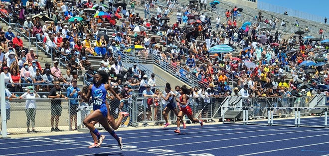 P.K. Yonge sophomore Zuriel Reed won the 300 meter hurdles Saturday at the Class 2A State Track and Field Championshipsat Hodges Stadium at the University of North Florida campus.
