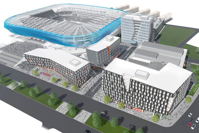 A new mixed-use project is in the works at the southeast corner of Liberty Street and Central Parkway, just north of FC Cincinnati's new TQL Stadium.