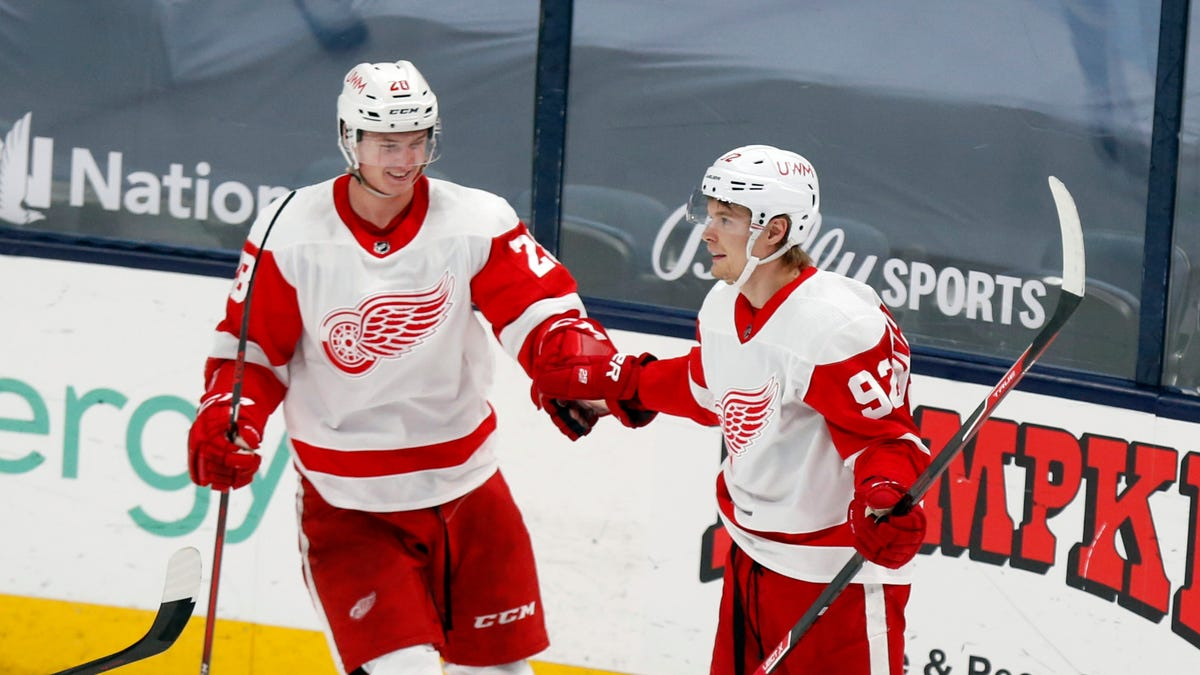 'We stayed with it' Rare rally lifts Red Wings out of last place in win over Columbus 1