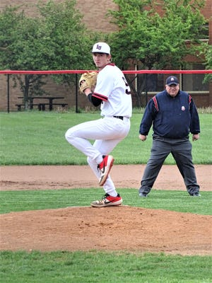 Liberty Union's Jacob Miller struck out 10 batters in five innings to help lead the Lions to a 4-2 non-conference win over Buckeye Valley on Friday.