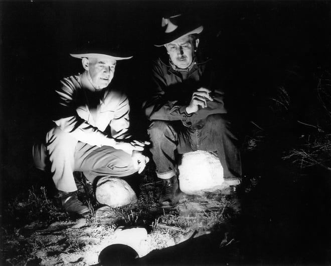 "Ted Slocum and Walt Disney circa 1940. Both men knew Palm Springs and ""Ferdinand"" author Munro Leaf."
