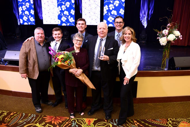 Springfield Area Chamber of Commerce presented  Warren Davis with the 2021 Springfieldian Award at the Chamber's Annual Meeting, held Friday at the Oasis Hotel & Convention Center.