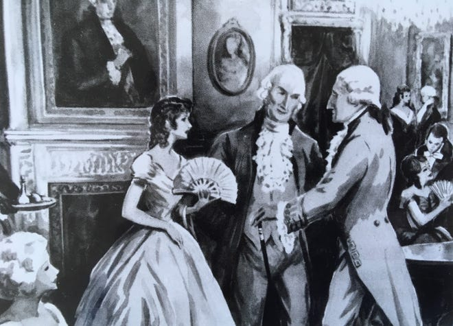 Augusta turned out in May 1791 to entertain President George Washington.