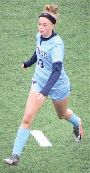 Bartlesville High's Lauren Shoesmith hustles down the field.
