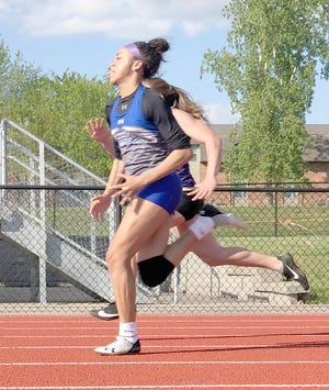 Boonville senior Jodie Bass captured the conference championship in 100 meter dash Thursday in California in a time of 13.42 seconds.