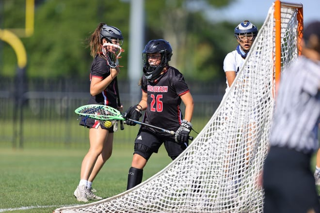 Vero Beach freshman goaltender Paige Medin had to replace Joy Coffey, the team's all-star goalie who was injured in the semifinal win over Bartram Trail on Friday night.