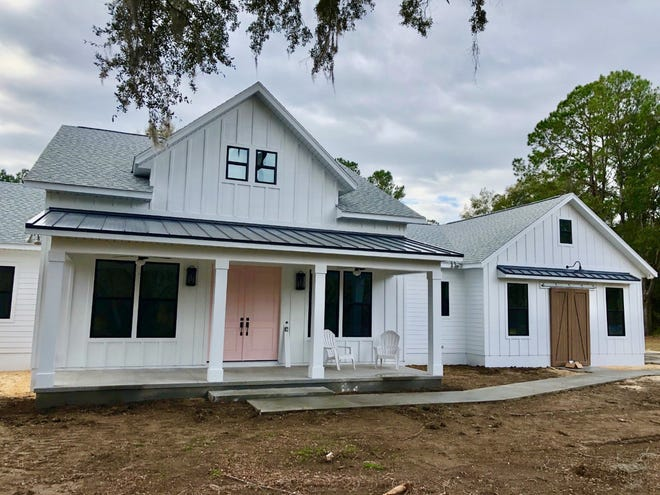 """Home concept from one of the builders working on the Flint Rock neighborhood west of Gainesville. The project is the area's first """"agrihood,"""" which emphasizes living with nature in mind. [Courtesy of Coldwell Banker M.M. Parrish Realtors]"""