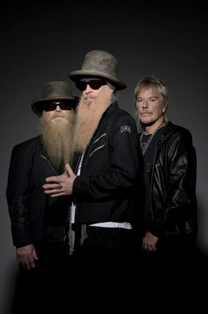 ZZ Top is, from left, Dusty Hill, Billy Gibbons and Frank Beard