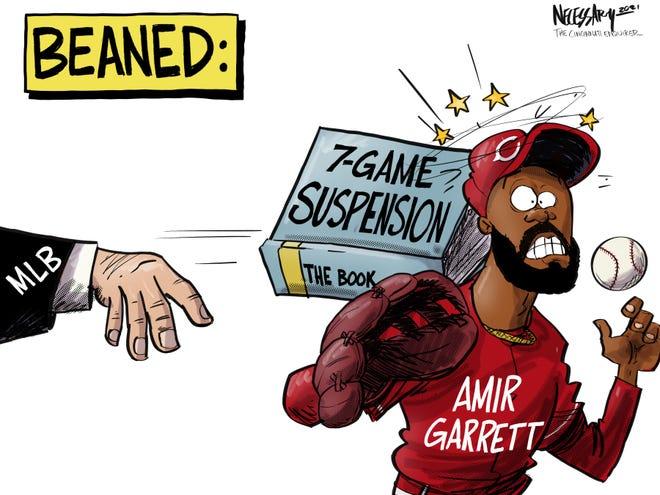 Cincinnati Reds reliever Amir Garrett was given a seven-game suspension Tuesday by Major League Baseball.