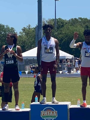 .Florida High's Jahaz Morgan captured Class 2A state titles in the 300 meters and triple jump Saturday.