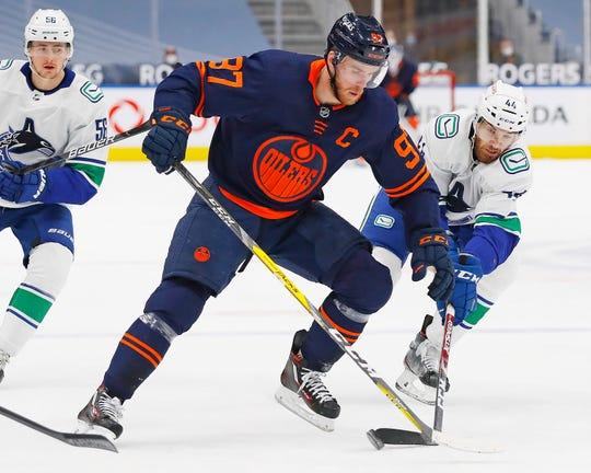 Edmonton Oilers striker Connor McDavid has scored 100 points in just 53 games.