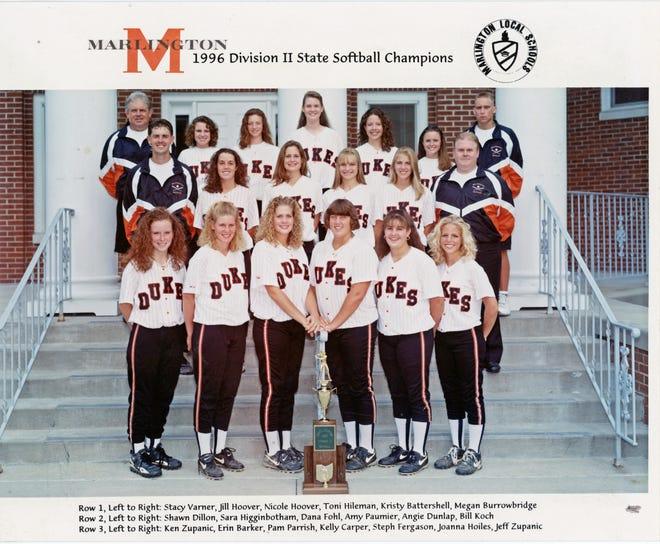 Marlington's 1996 state softball championship team's official photo.