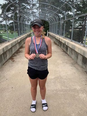 After capturing the District 9-4A championship for girl's singles Sharp finished up as runner-up in the UIL Class 4A Region II to advance to the state tournament in San Antonio beginning May 20.