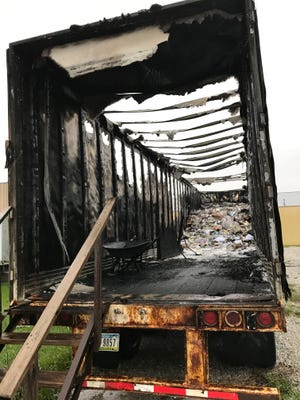 A fire has destroyed the Ames Golden K Kiwanis paper collection trailer located at 919 E. Lincoln Way, according to a news release from the organization.