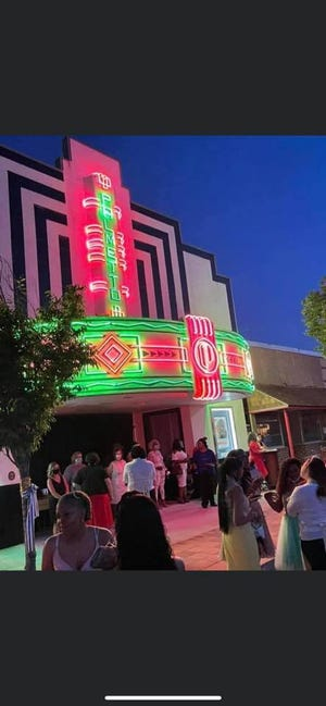 The colorful Palmetto Theater was the backdrop for this year's Wade Hampton High School Prom.