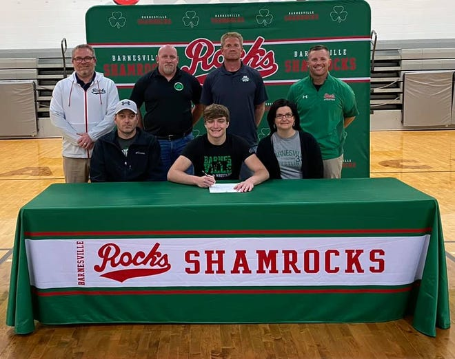 Barnesville High School student Jake Boulet will be attending his academic and wrestling career at Division II Bluefield State College in the Fall.