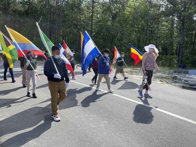 Students and staff at Royal Live Oaks Academy Charter School in Hardeeville held a multicultural parade April 28.