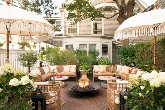 Life House Nantucket, opened last year in a former sea captain's home, includes a garden space for gathering.
