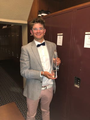 Cheboygan's PJ Maybank III was honored with the Peter Green Award, which recognized the golfer with the lowest score after 36 holes at the Michigan Medal Play tournament at Detroit Golf Club on Thursday, May 6. Maybank III took second overall in the event.