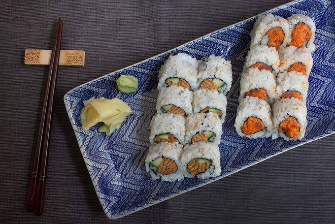 SweetTofu and Spicy Tuna rolls at Kintsugi Sushi Bar in the North Market at Bridge Park in Dublin
