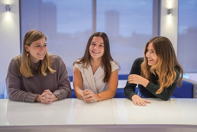 Tandem co-founders, from left, McKenzie Kennelly, Olivia Weinstock and Natalie Amling.