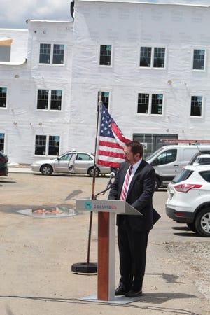 Jeffrey J. Woda, president of Woda Cooper Companies, at the site of Jenkins Street Lofts in Merion Village.