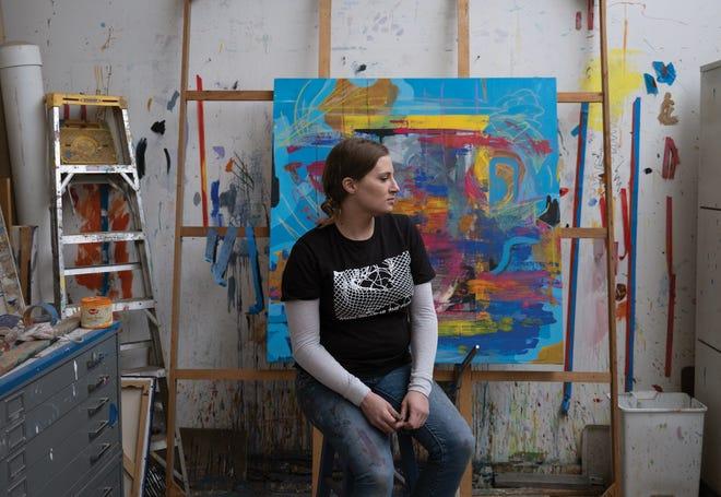 Aimee Wissman in her studio at 400 West Rich