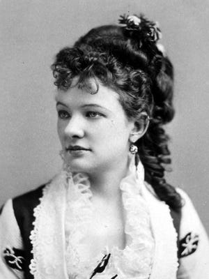 Just 21 when this photo was taken in 1870, former Monmouth resident Emma Abbott was already the toast of New York City.