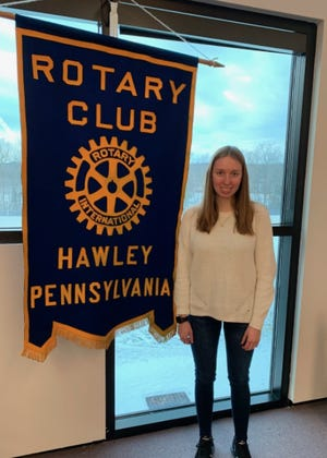 WAHS senior Rebecca Castimore is being honored by Hawley Rotary Club