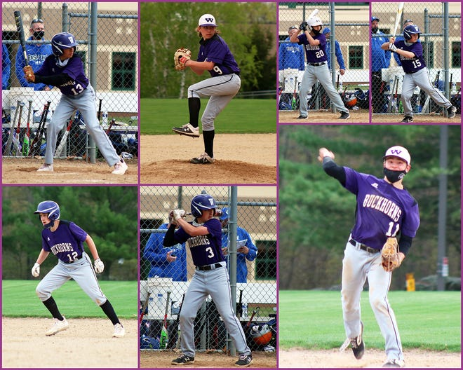 Some keys to the Wallenpaupack Area Junior High baseball team this season have been (top, from left): Michael Paltzer, Greg VanGorder, Frank Church, Ben Anderson. Bottom (from left): Thomas Kiersted, CJ Doty, and Mark Nilsen.