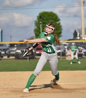Geneseo's Anna Narup pitched seven innings, allowing eight hits and six runs while striking out 11 and walking one batter in the Lady Leafs' recent loss to Sterling, 6-2. Junior Maya Bieneman had the solo home run for the Leafs in the bottom of the fifth inning. Natalie Baumgardner, Payton Stohl, Jaelyn Lambin, Drayana DeBoef and Bieneman each collected one hit for Geneseo.