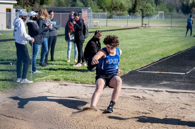 Pittsford's Legend Gore in the Long Jump event