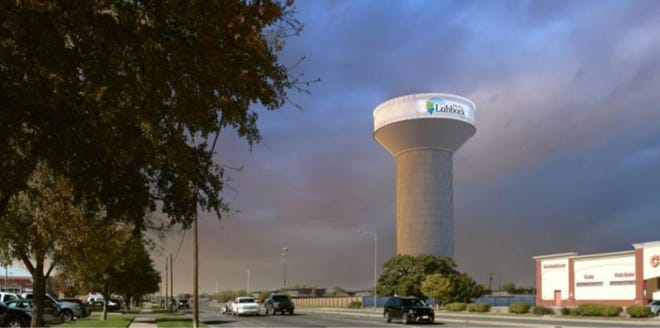Renderings of the water tower going up near 50th Street and Indiana Avenue.
