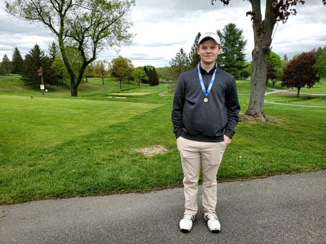 Verona's Drew Weisser carded a 5-over par round of 75 to claim the North 1/2, Group 1 golf title on May 10, 2021, at Newton Country Club.