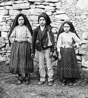 Three shepherd girls, Lucia Santos and her cousins, Jacinta and Francisco Marto, report seeing apparitions of the Virgin Mary near Fatima, Portugal, for the first time on May 13, 1917.