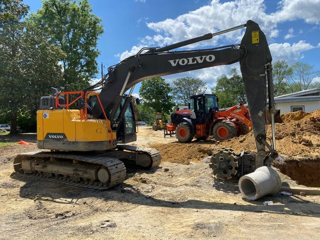Construction equipment will be a common sight along Brunswick Street as crews install two sections of reinforced concrete pipe and a filter station to reduce problems with stormwater runoff.