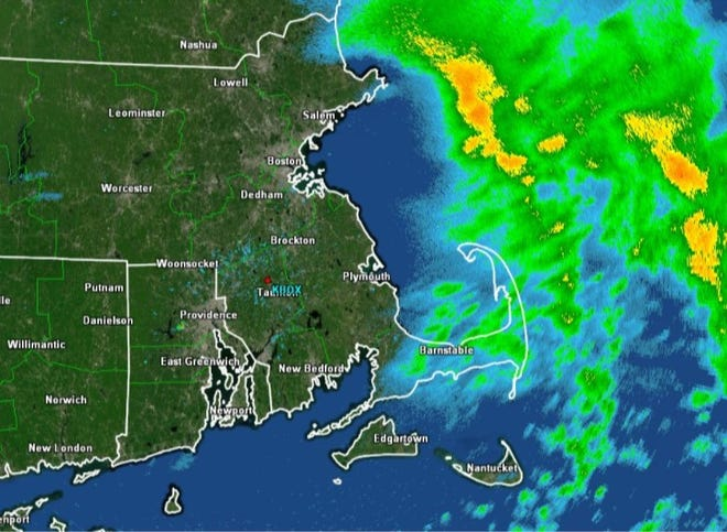 The rain has mostly moved off shore.