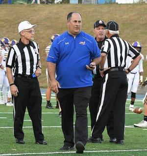 Lake athletic director Joe Bogdan in 2019 at a Blue Streaks football game. (CantonRep.com file photo)